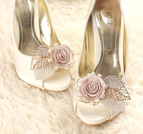 prendedores para zapatos de (etsy para bodas)