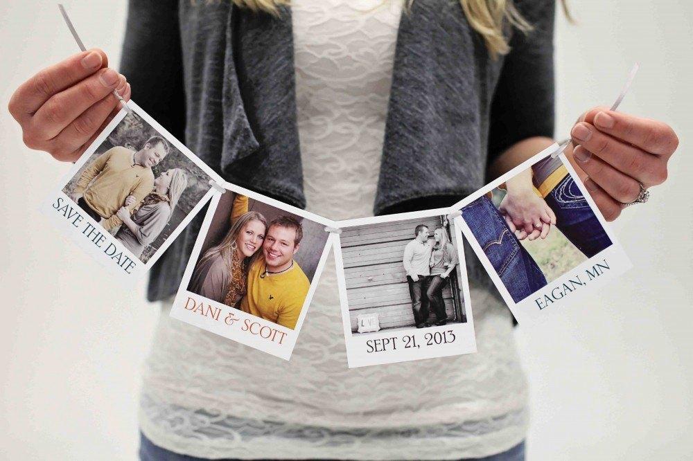 save the date con fotos polaroid
