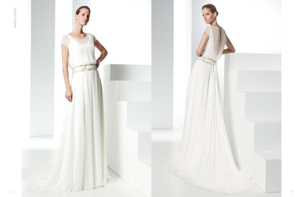 vestido de novia elegante raimon bundo
