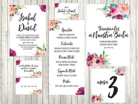 Papeleria para bodas Oh Fleur Blog