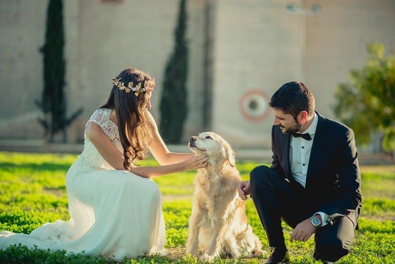 Postboda en Sevilla Monasterio con perro