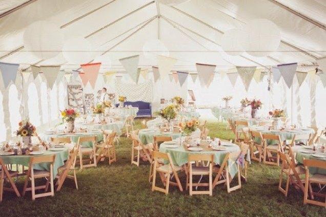 carpas-para-boda-campestre - casarse en una carpa