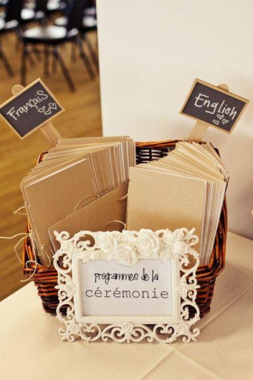 programa de boda bilingue