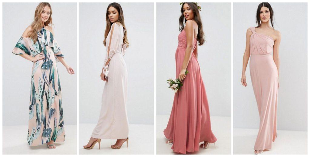 vestidos de fiesta baratos largos de Asos