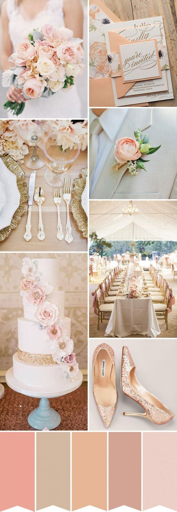 colores para tu boda melocoton