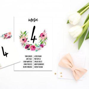 Seating Plan Oh Fleur 1 - Diario de Una Novia Shop Online