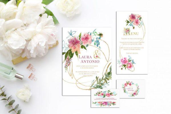 Colección Flower Gold zoom 2019 - Papelería Flower Gold