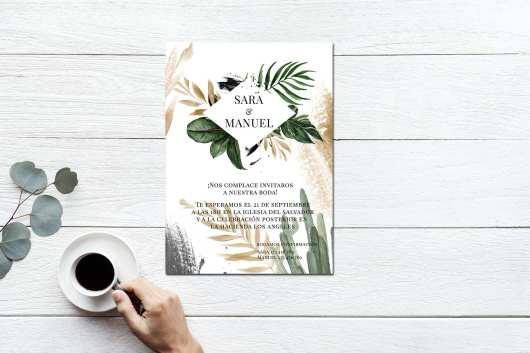 Invitación Botanic Gold 2019