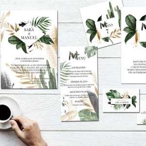 Pack Papelería Botanic Gold 2019 - Diario de Una Novia Shop Online