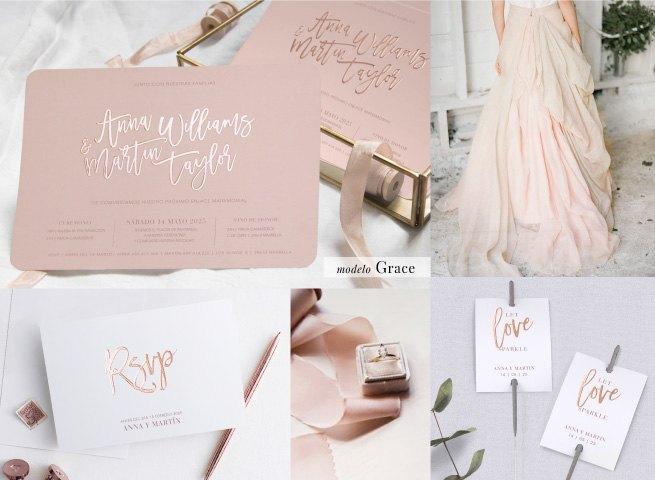 invitaciones de boda cottonbird modelo graceice - Las Invitaciones de Boda de Cottonbird: Elegancía y Delicadeza