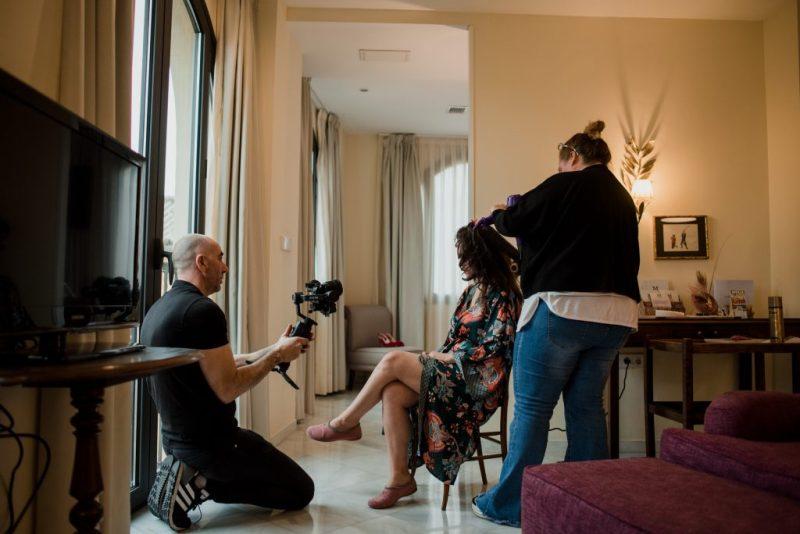 02 novia arreglandose suite organizadora sueños - ¿Dónde me Arreglo el Día de mi boda?
