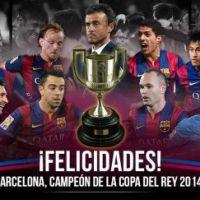 El Barcelona gana la Copa del Rey y completa 2 títulos en esta temporada