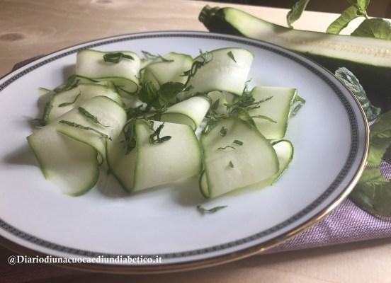 Carpaccio di zucchine e menta
