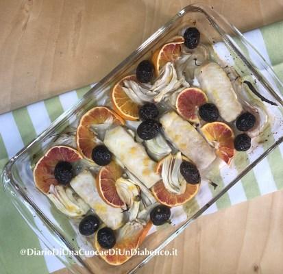 Merluzzo arancia e finocchi