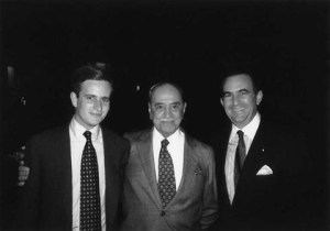 Cisneros e o filho com o companheiro Roberto Marinho numa visita ao Brasil em 1995