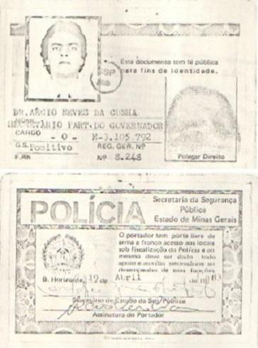 A carteira de policial que Aécio obteve quando o avô Tancredo governava Minas