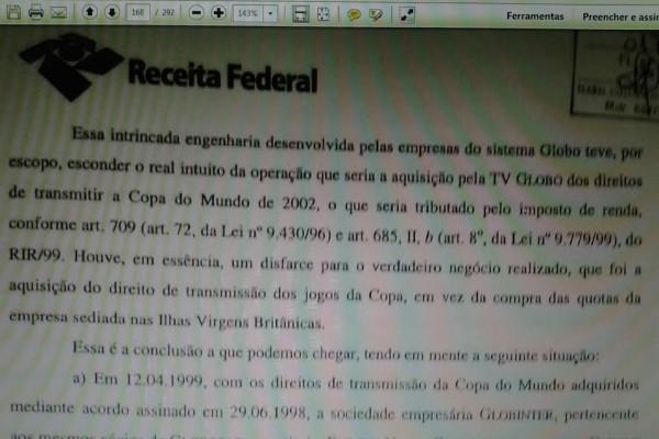 Documento na Receita Federal