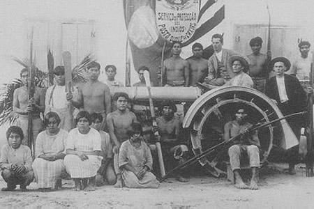 Posto do Serviço de Proteção aos Índios na aldeia kaingang de Duque de Caxias, início do século 20