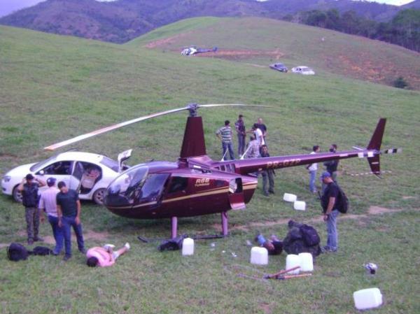 O helicóptero dos Perrellas com 445 kg de cocaína: inocentados pela PF em 15 dias