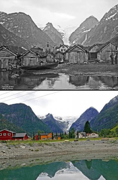 Noruega: antes e depois