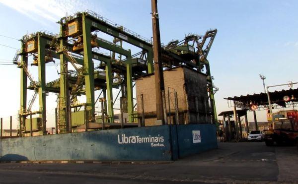 O terminal de Libra no porto de Santos