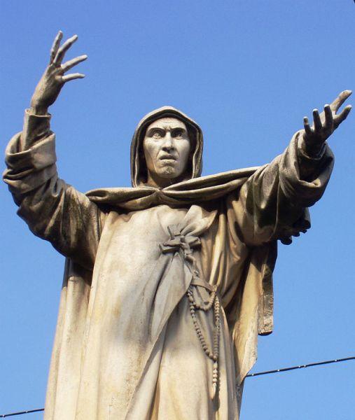 Estátua de Savonarola em Ferrara