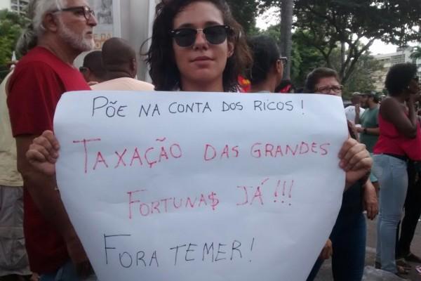 A repórter do DCM em ação em Salvador