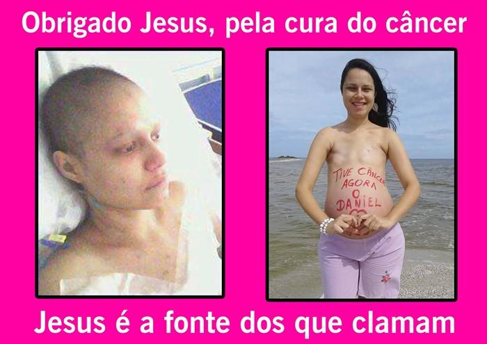Jovem diz que Deus lhe curou do câncer (foto: Facebook)