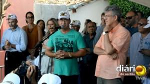 Prefeito Gervázio Gomes discursando