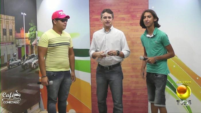 Pegada Estilizada fez a festa no Café Conetado da TV Diário do Sertão (Foto: reprodução)