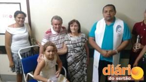 Gabrielle foi batizada antes de sair do HRC