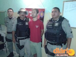 Guarnição que prendeu o jovem em Bonito