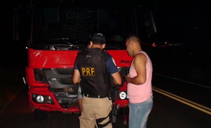 A Polícia Rodoviária Federal isolou a área até a chegada da perícia.