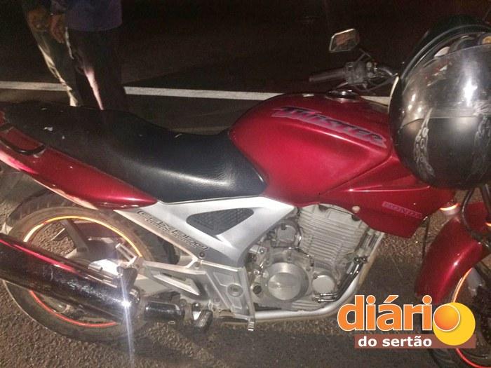 Moto usada na tentativa de assalto (foto: divulgação/polícia militar