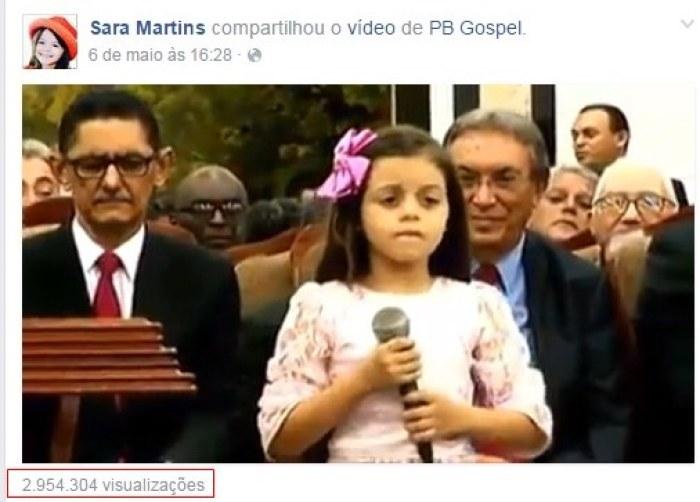 Vídeo de Sara no Facebook (foto: reprodução)
