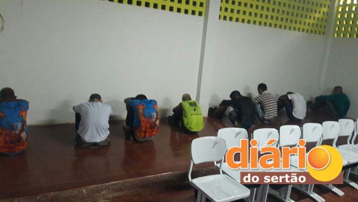 Operação São João do 14º BPM prendeu 9 pessoas (Foto: Diário do Sertão)
