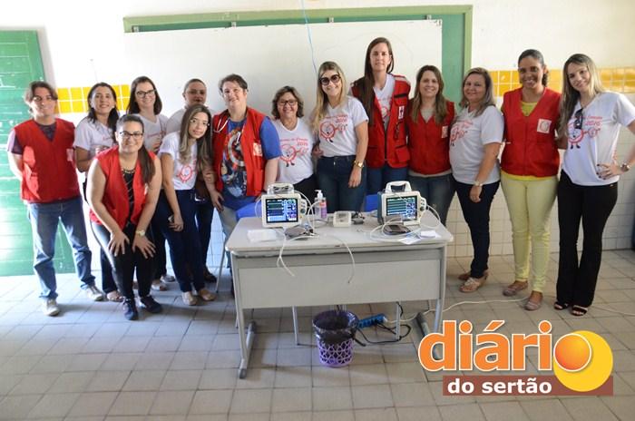 Profissionais de saúde participam da Caravana do Coração em Sousa (foto: Charley Garrido)