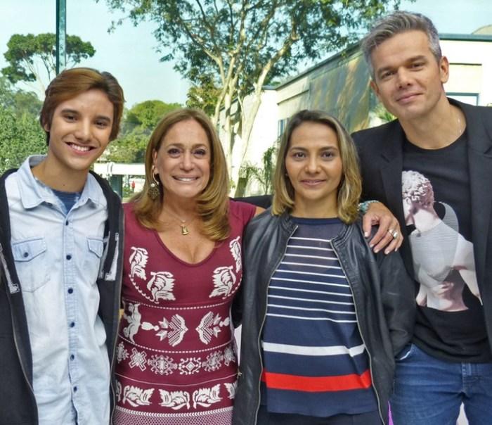 Estreia do quadro 'Caso Verdade' emociona Otaviano Costa e Susana Vieira (Foto: Brunella Menezes / Gshow)