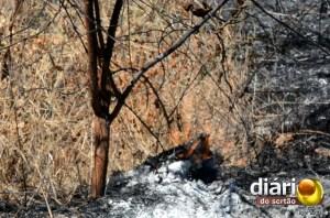 Foco de incêndio no campus da UFCG de Cajazeiras