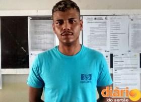 JP foi preso na Zona Sul da cidade de Cajazeiras