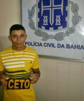 Acusado foi preso pela polícia civil na Bahia (foto: ascom polícia civil)