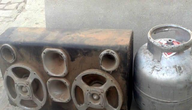 Objetos que estavam sendo roubados (Foto: Sertão Informado)