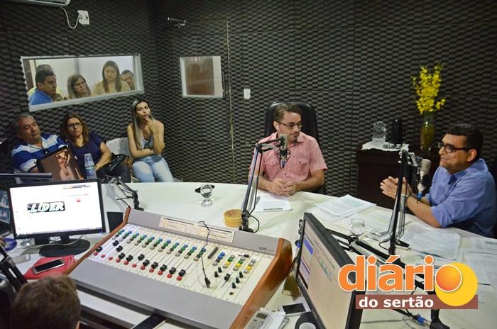 Entrevista foi realizada no Studio da Rádio Líder FM (foto: Paulo Ramon)