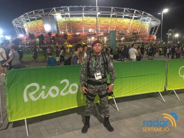 Sargento Túlio César atuando na Força Nacional de Segurança Pública