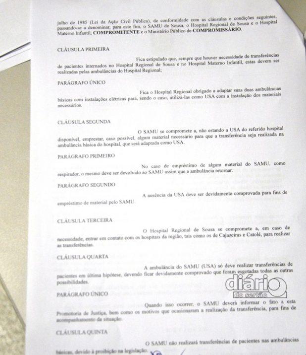 TAC firmado entre o SAMU, Hospital e Ministério Público