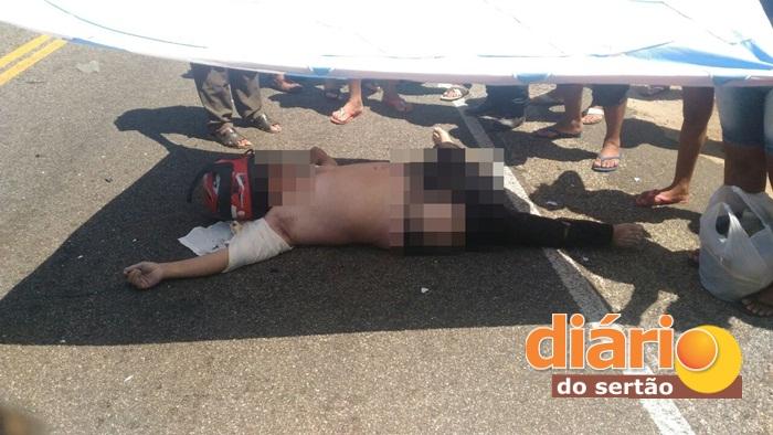 Acidente deixa vítima fatal na cidade de Aparecida (Foto: Diário do Sertão)