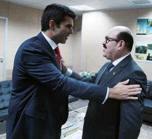 Senador Deca é recepcionado pelo ministro da Integração Nacional, em Brasíla (Foto: Assessoria)