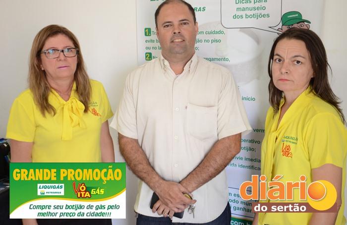 Empresa Vó Ita Gás garante atendimento de qualidade aos clientes (foto: Charley Garrido)