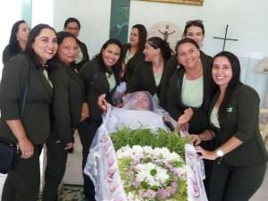Funerária realizou o sonho da cliente nesta quarta-feira (2) (Foto: Delândia/ Arquivo Pessoal)