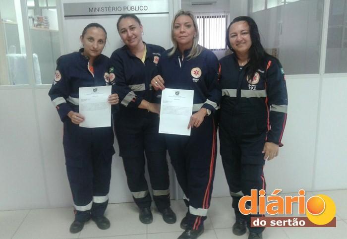 Equipe do SAMU de Piancó acionou o Ministério Público Estadual (foto: whatsapp)